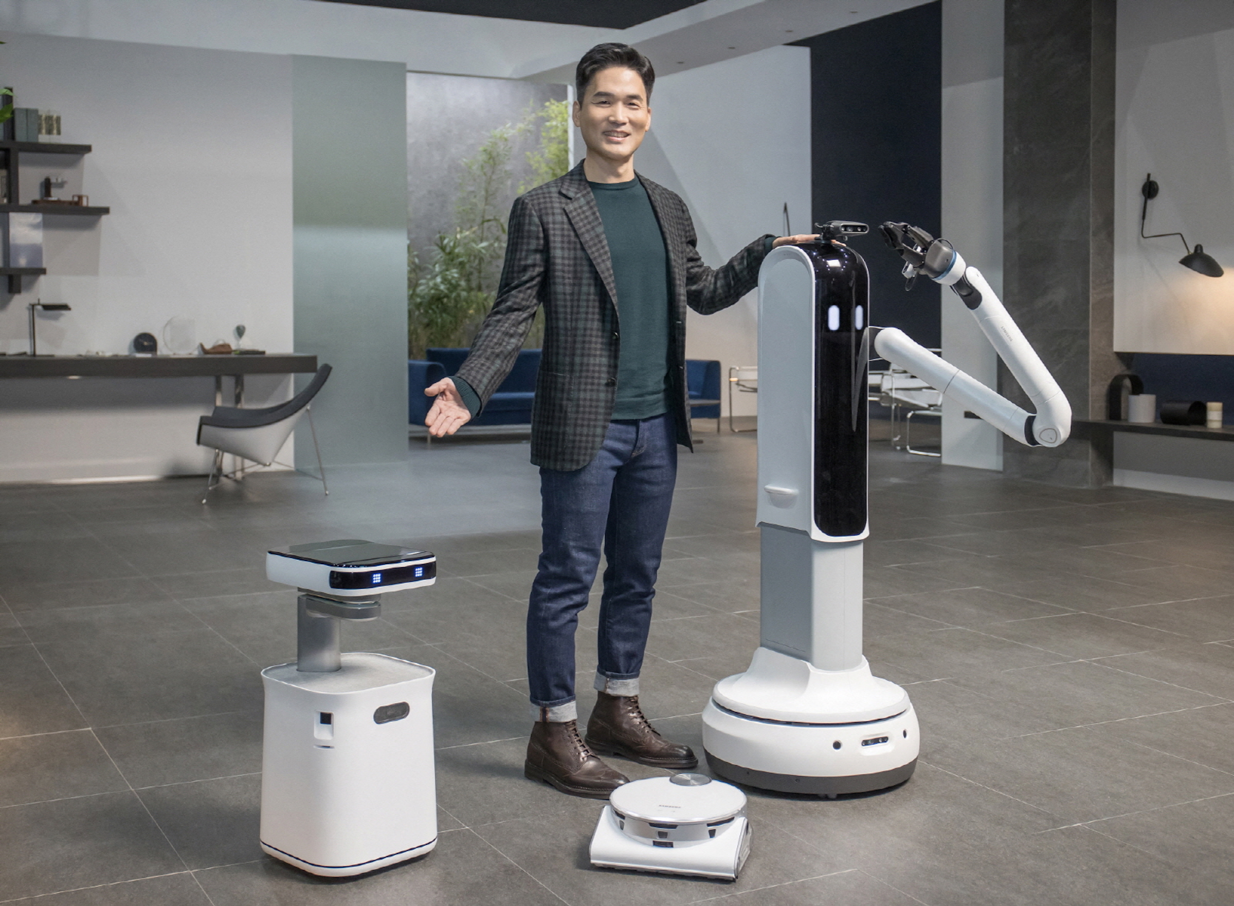 Robot in your home to help you with any kind of cleaning and company