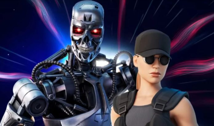 Fortnite added the T-800 Terminator and Sarah Connor skins