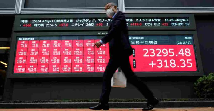 Asian equities stumble as China's weak data fuel global growth concerns